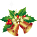 Christmas_Bells_with_Mistletoe_Ornament_PNG_Clipart